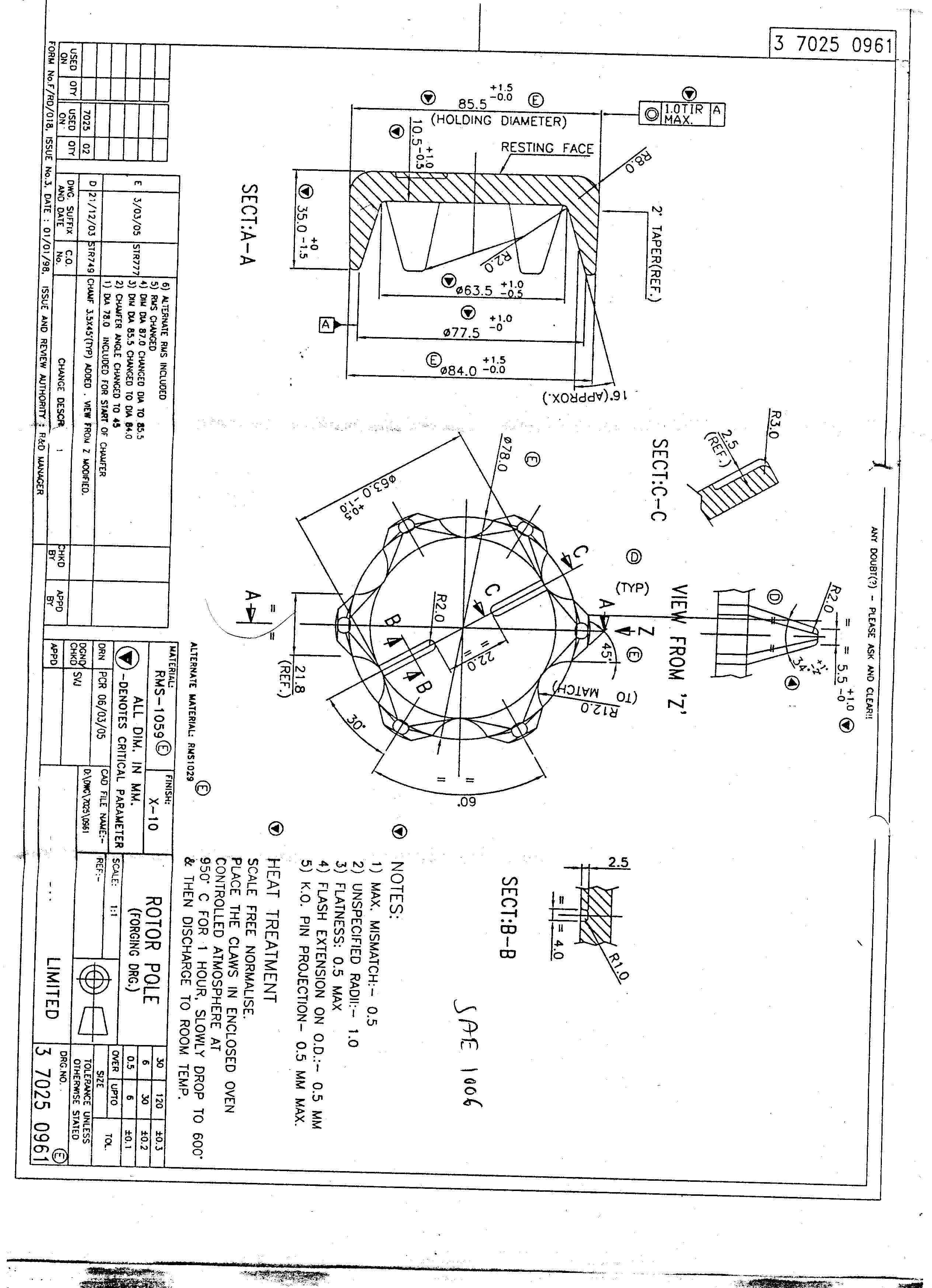 rotor pole